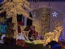 Casa di Santa Claus in Melegnano Milano fotografia stock libera da diritti