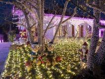 Casa di Santa Claus in Melegnano Milano immagine stock