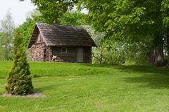 Casa di sauna nella zona rurale Fotografie Stock Libere da Diritti
