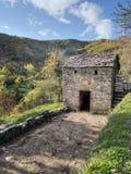 Casa di secchezza della castagna, agricoltura italiana tradizionale Fotografia Stock