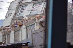 Casa di Semicollapsed Fotografia Stock Libera da Diritti