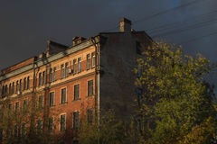 Casa di sera Fotografia Stock Libera da Diritti