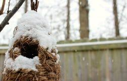 Casa di Snowy Immagini Stock