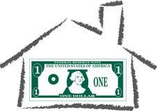 Casa di soldi Fotografia Stock