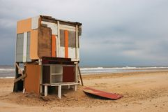 Casa di spiaggia Fotografia Stock Libera da Diritti