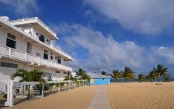 Casa di spiaggia bianca Fotografia Stock Libera da Diritti