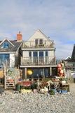 Casa di spiaggia in Borth, Galles Immagini Stock Libere da Diritti