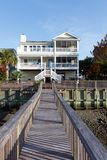 Casa di spiaggia di lusso fotografia stock libera da diritti