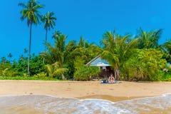 Casa di spiaggia tropicale Fotografia Stock Libera da Diritti
