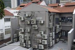 Casa di stato dell'aria dell'alloggio di Singapore Fotografia Stock