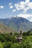 Casa di stile del Tibet Fotografia Stock Libera da Diritti