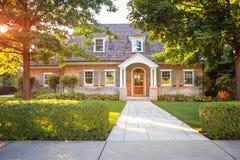 Casa di stile tradizionale immagine stock
