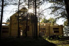 Casa di Streewise nel legno Immagine Stock