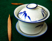 Casa di tè di bambù Fotografia Stock Libera da Diritti