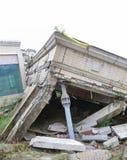 Casa di terremoto Immagine Stock