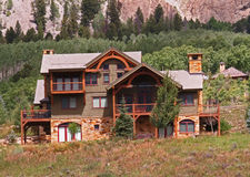 Casa di vacanza fotografie stock