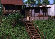 casa di vacanza della rappresentazione 3D Fotografia Stock Libera da Diritti