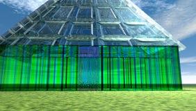 Casa di vetro futuristica Fotografia Stock Libera da Diritti