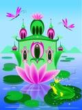 Casa di vettore di principessa della rana illustrazione di stock