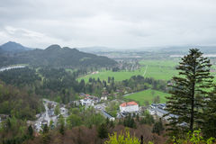 Casa di vista nelle alpi della Baviera Immagini Stock