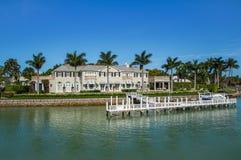 Casa di Waterside a Napoli, Florida Fotografie Stock