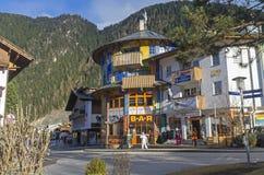 Casa dipinta divertente Mayrhofen, Tirolo, Austria Fotografie Stock