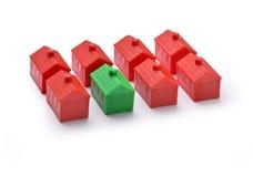 A casa dirige o verde sustentável fotos de stock