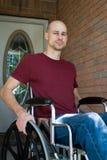 Casa disabile dell'uomo Fotografia Stock