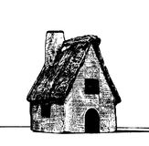 Casa disegnata a mano di schizzo su fondo bianco Fotografie Stock