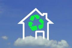 Casa do ícone Fotografia de Stock Royalty Free