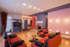 Casa do amaranto - interior da sala de visitas fotos de stock royalty free