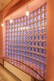 Casa do amaranto - parede dos blocos de vidro Imagens de Stock Royalty Free