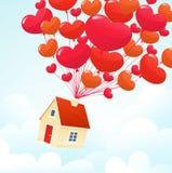 Casa do amor Fotos de Stock Royalty Free