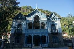 Casa do azul de Borjomi imagens de stock royalty free