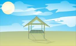 Casa do bambu da paisagem Fotografia de Stock Royalty Free