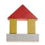 Casa do brinquedo de madeira fotografia de stock