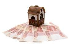 Casa do brinquedo em rublos do russo Foto de Stock