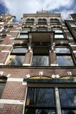 Casa do canal de Amsterdão fotografia de stock