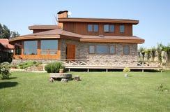 Casa do cedro Fotografia de Stock Royalty Free