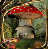 Casa do cogumelo Fotos de Stock Royalty Free