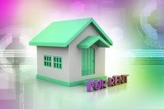 Casa do conceito dos bens imobiliários para o aluguel Imagem de Stock Royalty Free