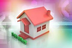 Casa do conceito dos bens imobiliários para o aluguel Fotos de Stock Royalty Free