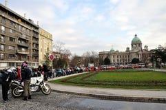 Casa do conjunto nacional da república da Sérvia foto de stock royalty free