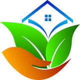 Casa do cuidado de Eco Fotos de Stock