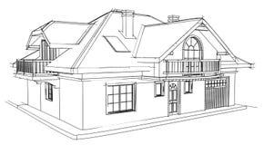 Casa do desenho Fotografia de Stock