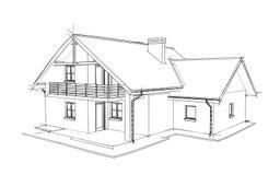 Casa do desenho Fotografia de Stock Royalty Free