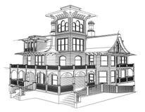 Casa do desenho Imagens de Stock Royalty Free