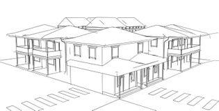 Casa do desenho Imagem de Stock