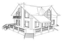 Casa do desenho Imagem de Stock Royalty Free