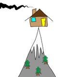 Casa do desenho de Childs ilustração royalty free